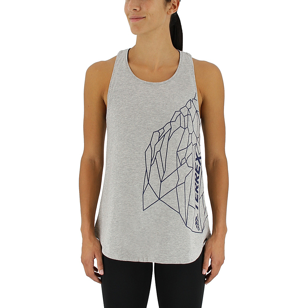 adidas outdoor Womens Rock Tank M - Medium Grey Heather - adidas outdoor Womens Apparel - Apparel & Footwear, Women's Apparel