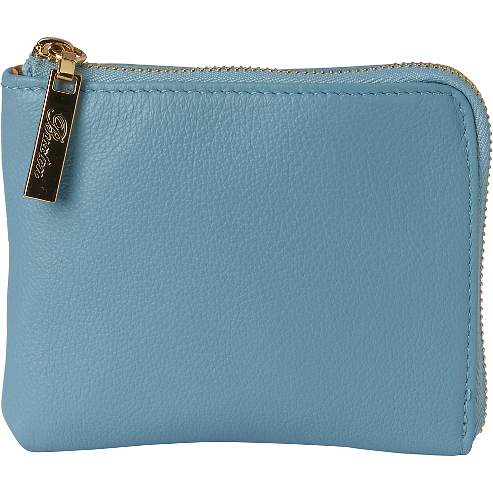 Buxton Florence Mini L-Zip Pouch Ocean Blue - Buxton Womens SLG Other - Women's SLG, Women's SLG Other