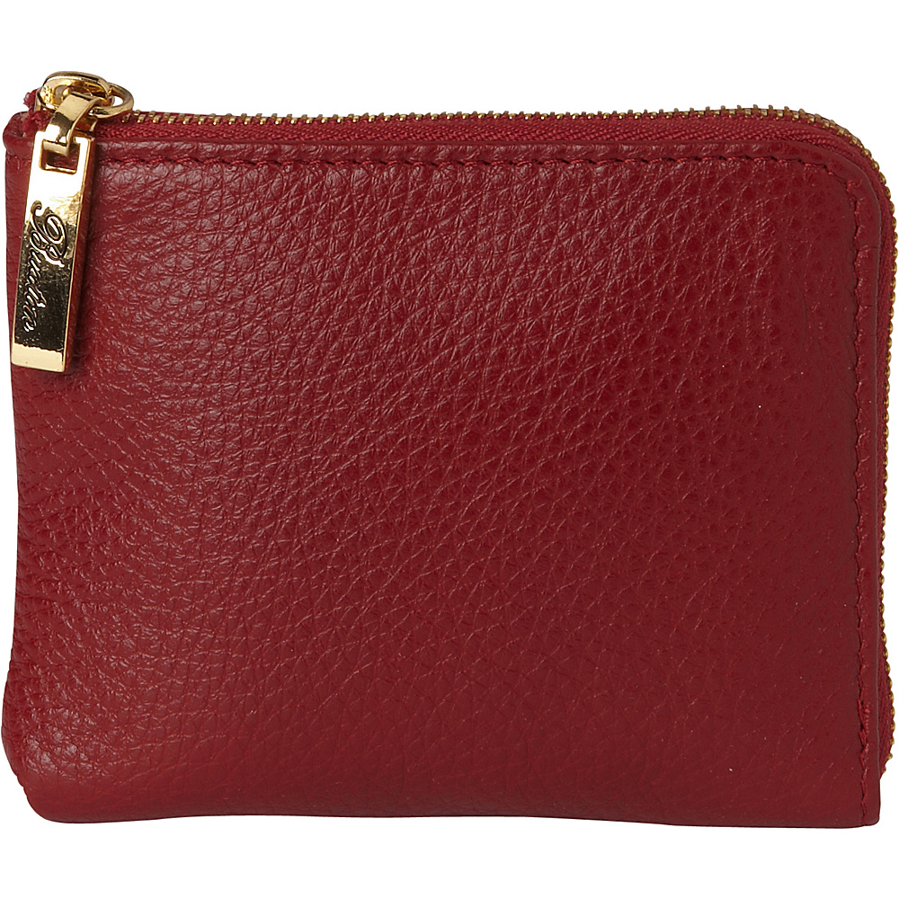Buxton Florence Mini L-Zip Pouch Red - Buxton Womens SLG Other - Women's SLG, Women's SLG Other