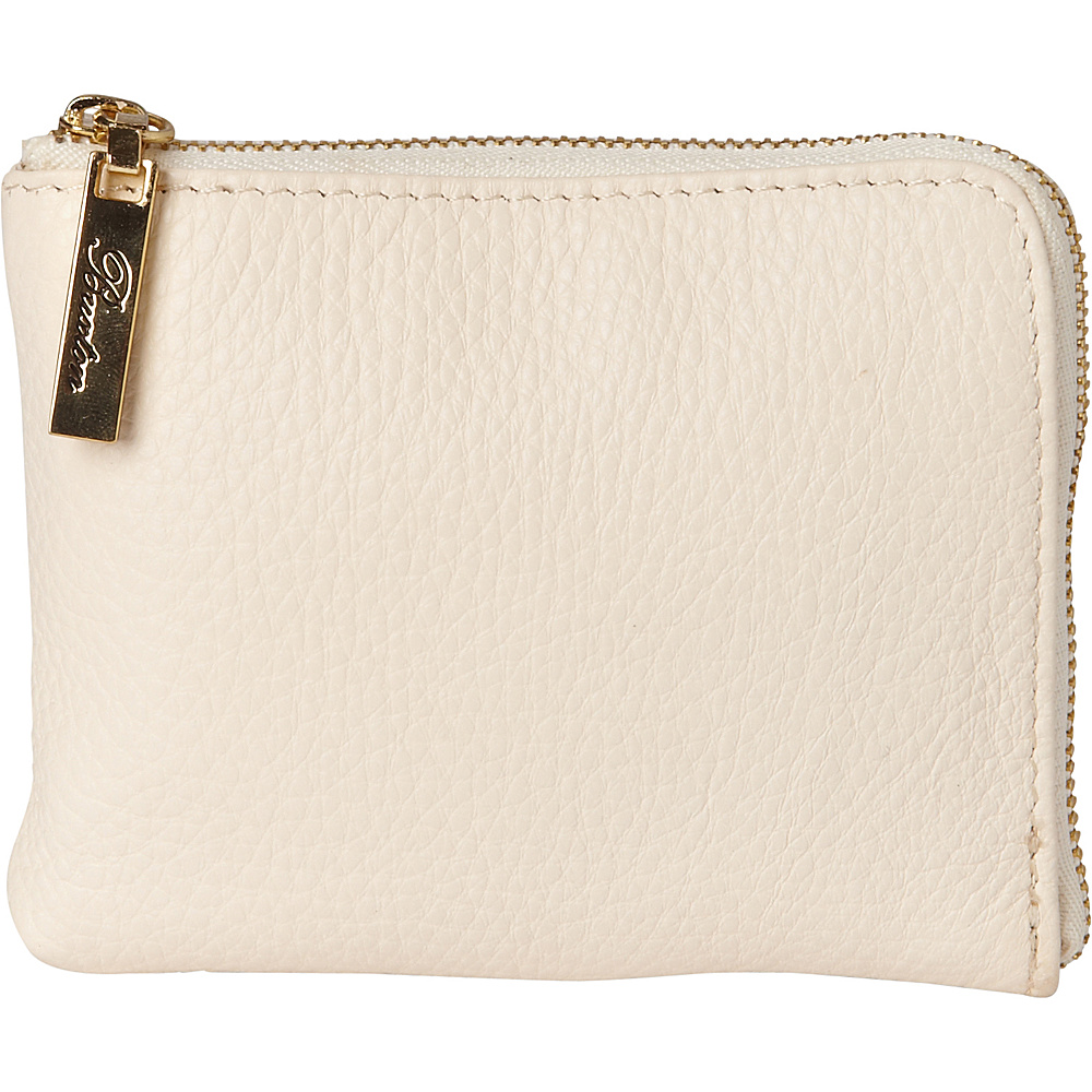 Buxton Florence Mini L-Zip Pouch White - Buxton Womens SLG Other - Women's SLG, Women's SLG Other