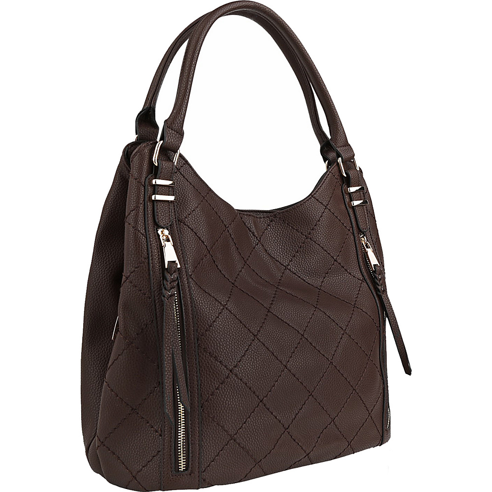 MKF Collection Mary Handbag Coffee - MKF Collection Manmade Handbags - Handbags, Manmade Handbags
