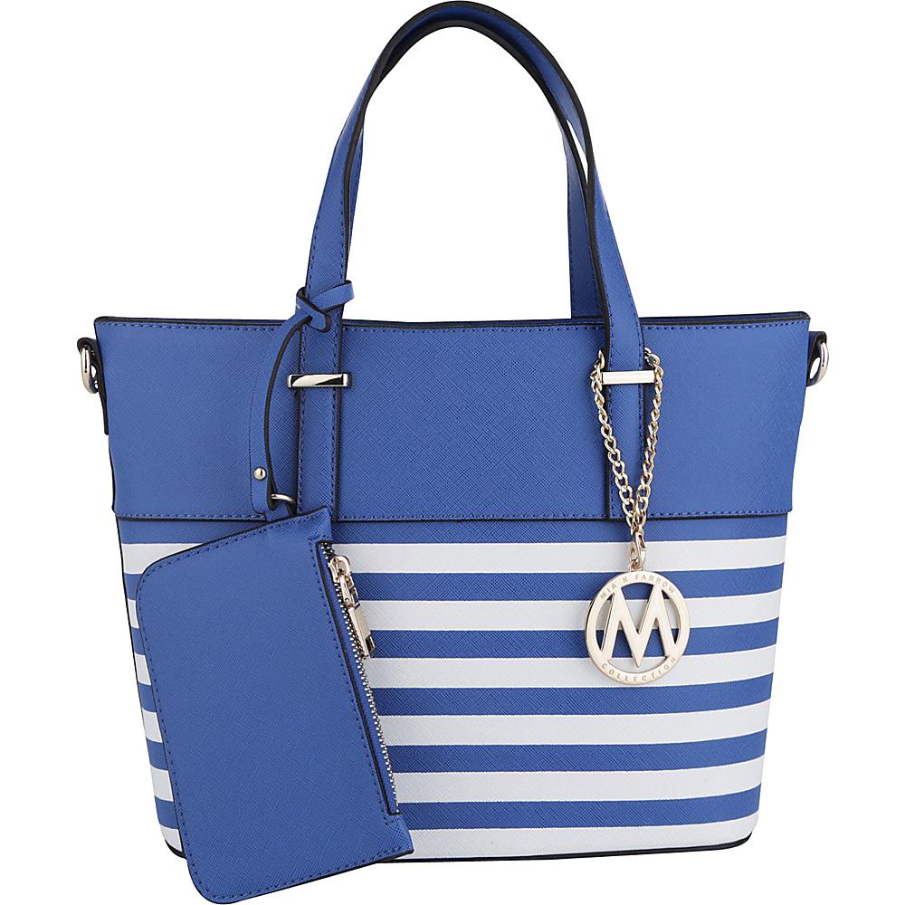 MKF Collection Elena Tote with Shoulder Strap Blue - MKF Collection Manmade Handbags - Handbags, Manmade Handbags