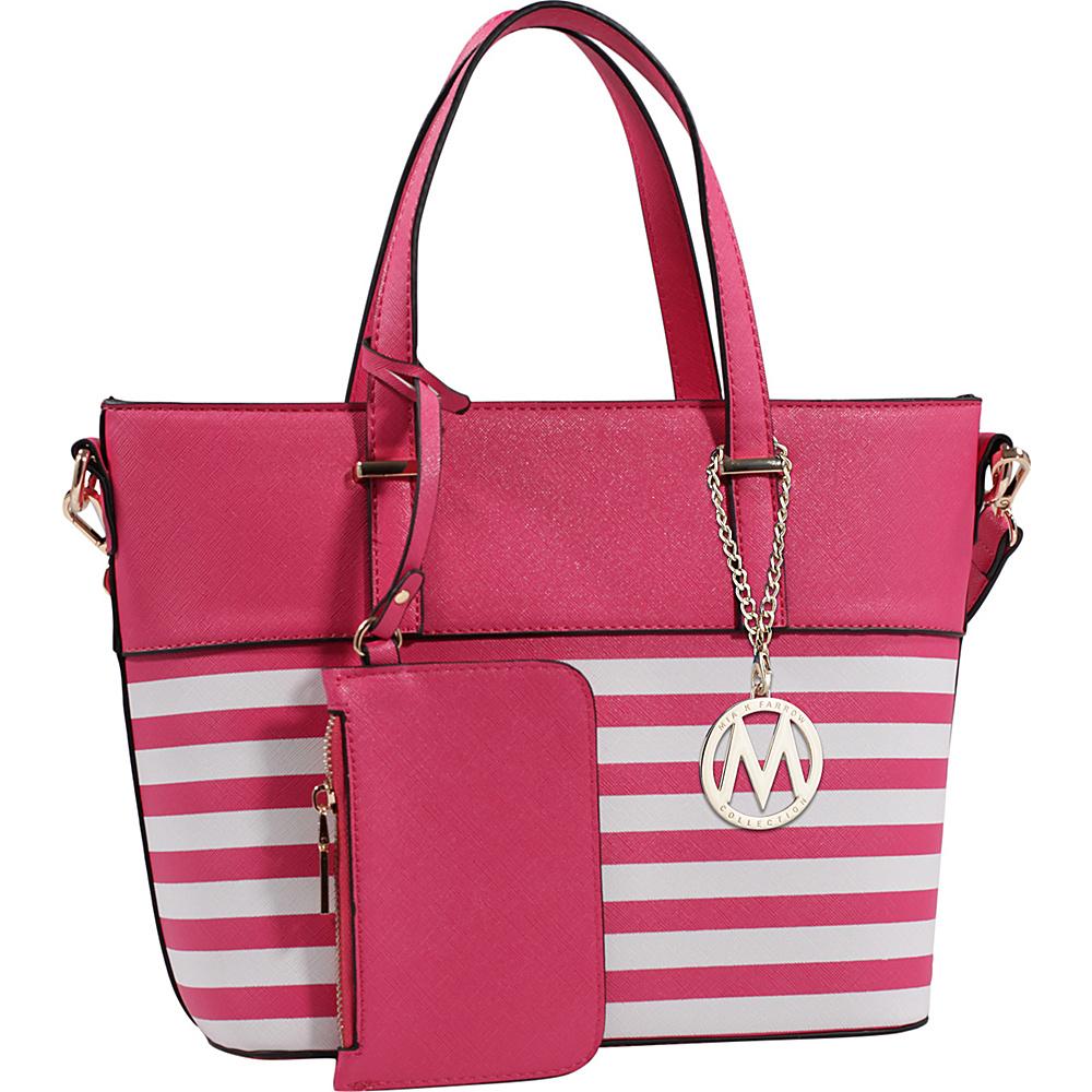 MKF Collection Elena Tote with Shoulder Strap Fuchsia - MKF Collection Manmade Handbags - Handbags, Manmade Handbags