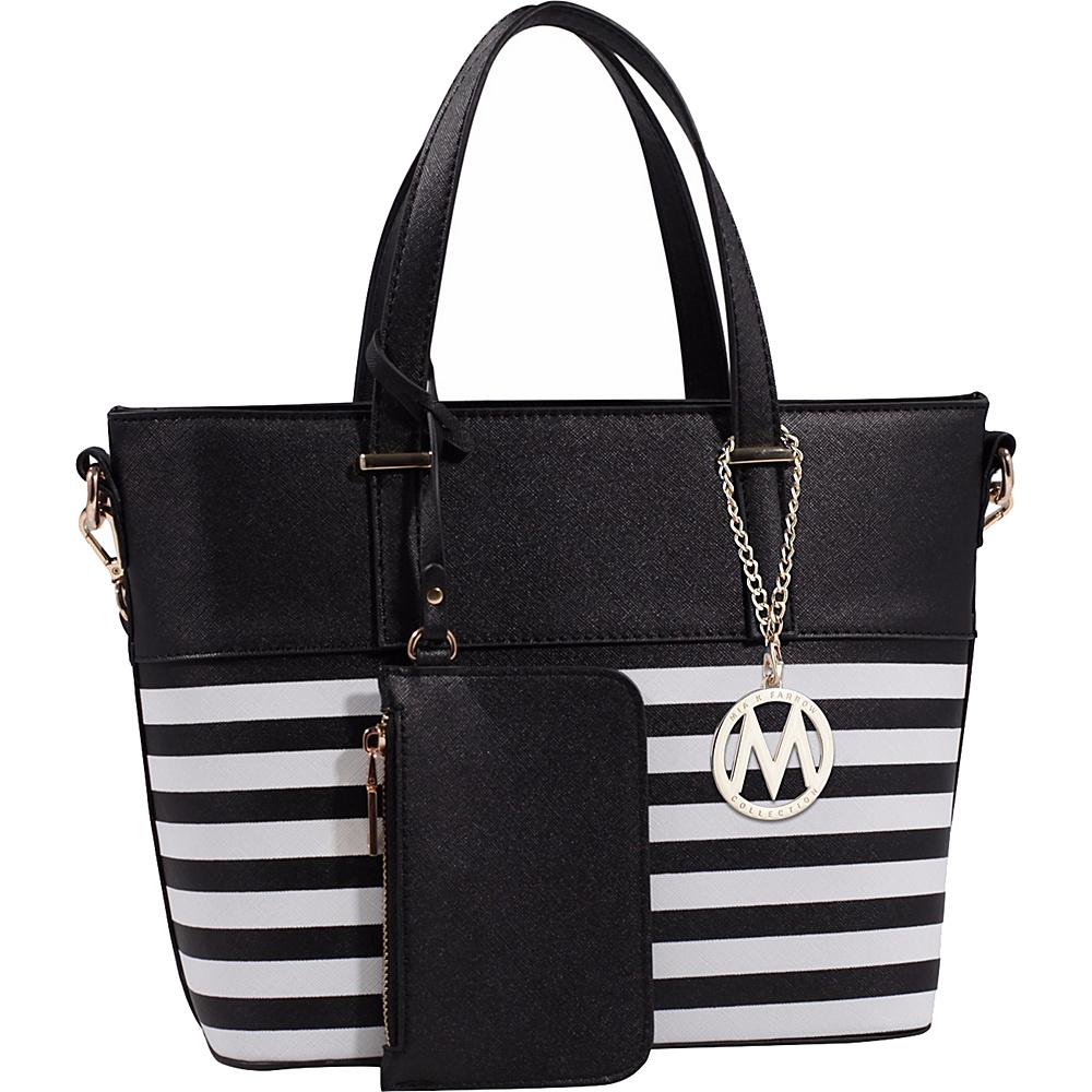 MKF Collection Elena Tote with Shoulder Strap Black - MKF Collection Manmade Handbags - Handbags, Manmade Handbags