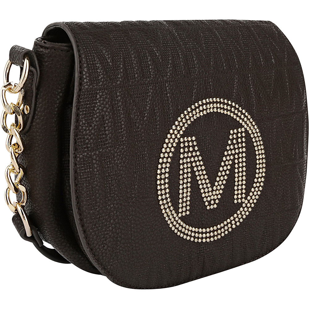 MKF Collection by Mia K. Farrow Verona M Signature Crossbody Chocolate - MKF Collection by Mia K. Farrow Leather Handbags - Handbags, Leather Handbags