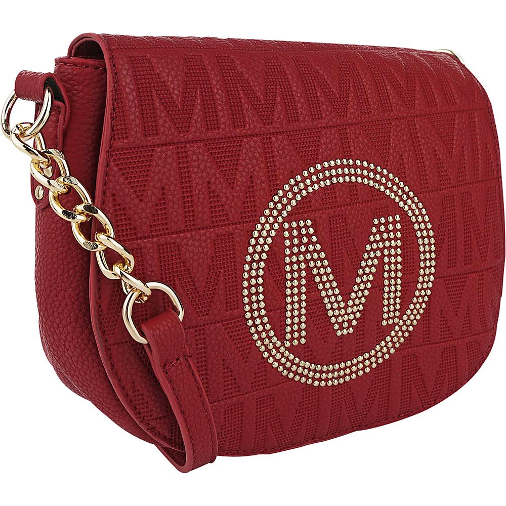 MKF Collection Verona M Signature Crossbody Red - MKF Collection Leather Handbags - Handbags, Leather Handbags