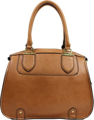 London Fog Handbags Kensington Satchel Cognac - London Fog Handbags Manmade Handbags