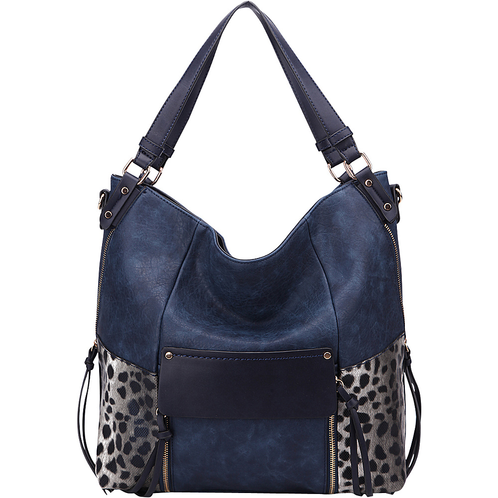 MKF Collection by Mia K. Farrow Sheidy Hobo Navy - MKF Collection by Mia K. Farrow Manmade Handbags - Handbags, Manmade Handbags