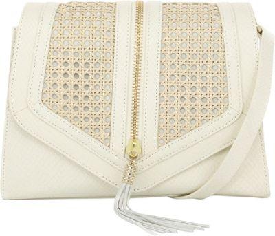 Elaine Turner Adi Crossbody Ivory Snake - Elaine Turner Leather Handbags