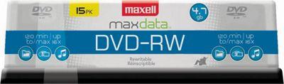 Maxell DVD-RW 4.7GB Rewritable 2x Recordable DVD Disc