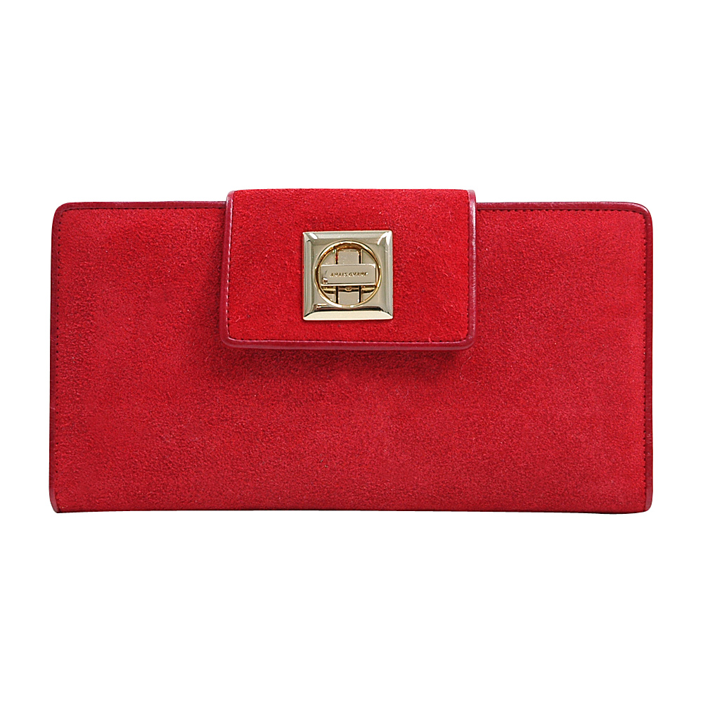 Dasein Womens Checkbook Wallet with Twist Lock Closure Red - Dasein Womens Wallets - Women's SLG, Women's Wallets