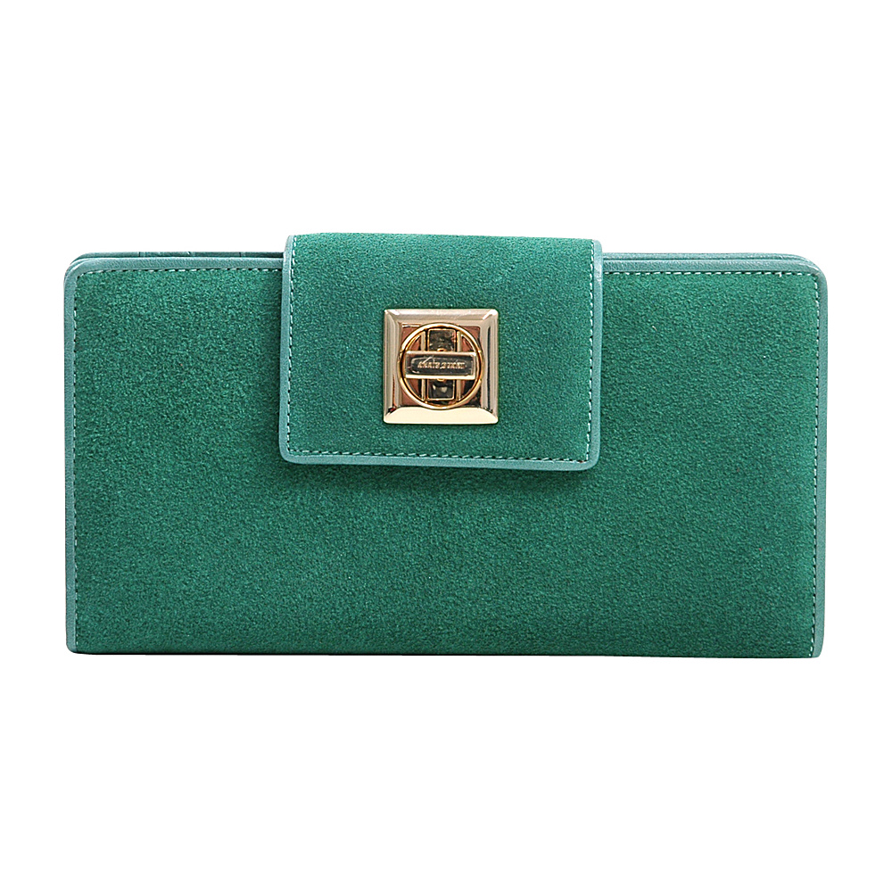 Dasein Womens Checkbook Wallet with Twist Lock Closure Light Green - Dasein Womens Wallets - Women's SLG, Women's Wallets