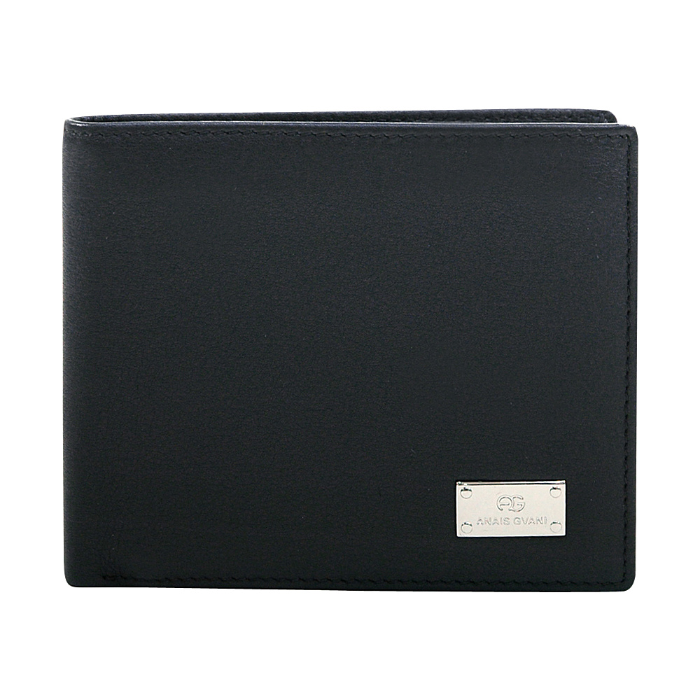 Dasein Mens Genuine Smooth Italian Leather Wallet Black - Dasein Mens Wallets - Work Bags & Briefcases, Men's Wallets
