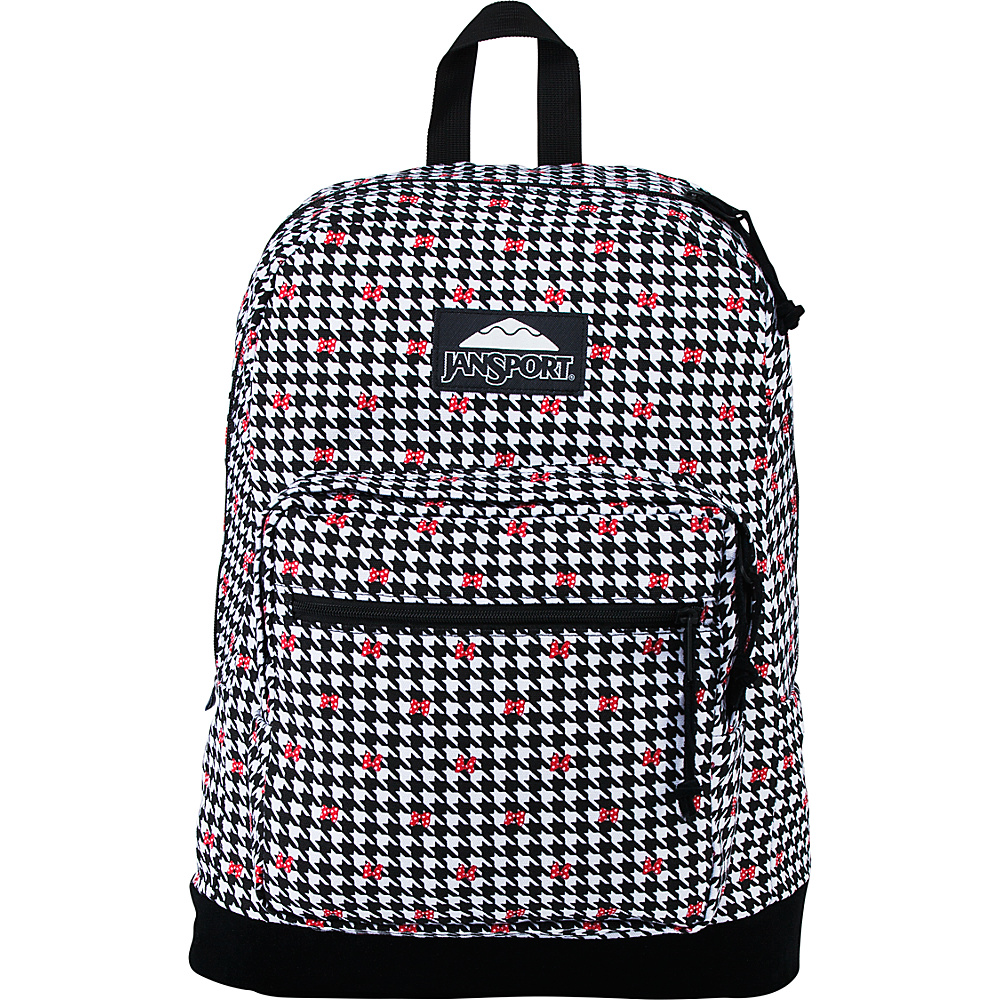 JanSport Disney Right Pack SE Laptop Backpack Minnie White Houndstooth - JanSport Laptop Backpacks