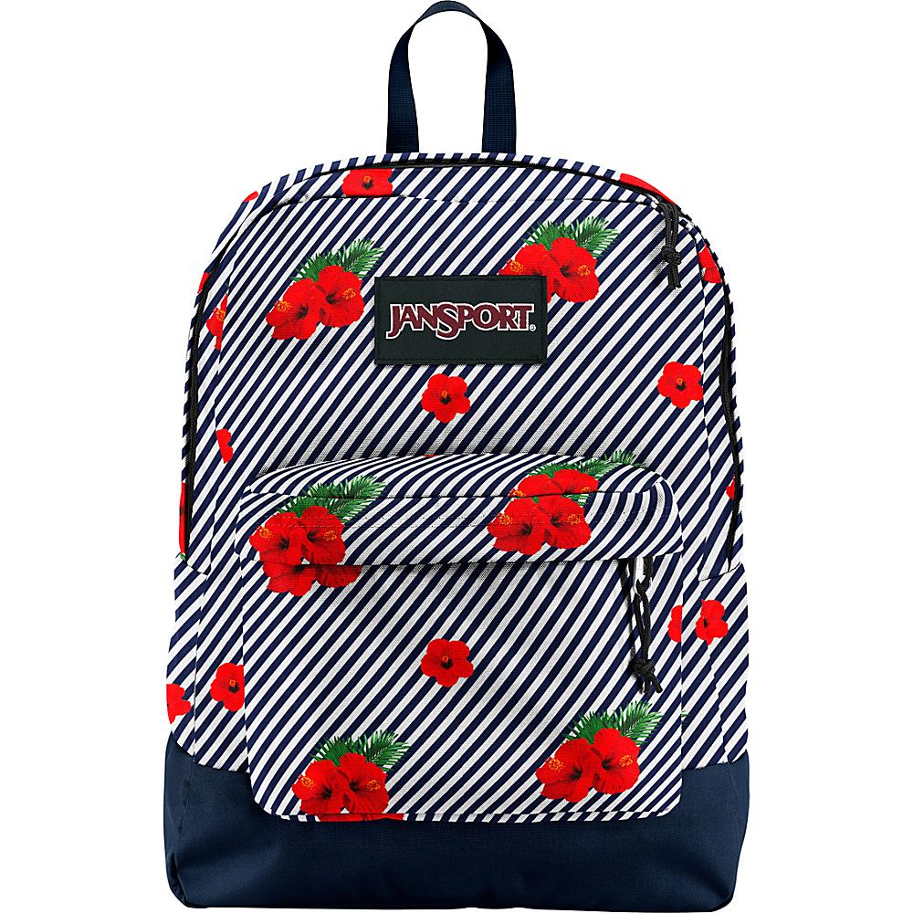 JanSport Black Label Superbreak Backpack Linear Hibiscus - JanSport School & Day Hiking Backpacks