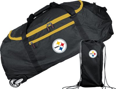 Mojo Licensing Mojo Licensing NFL 36 inch Collapsible Duffle Pittsburgh Steelers - Mojo Licensing Travel Duffels