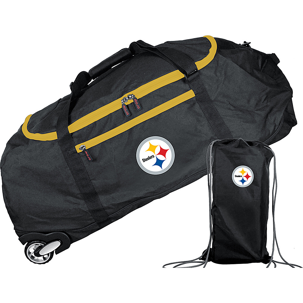 MOJO Denco NFL 36 Collapsible Duffle Pittsburgh Steelers - MOJO Denco Travel Duffels - Duffels, Travel Duffels