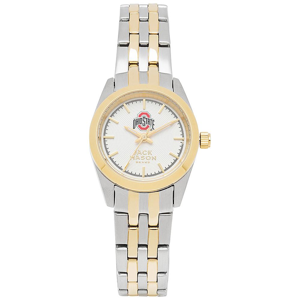 Jack Mason League NCAA Two-Tone Bracelet Watch Ohio State Buckeyes - Jack Mason League Watches - Fashion Accessories, Watches