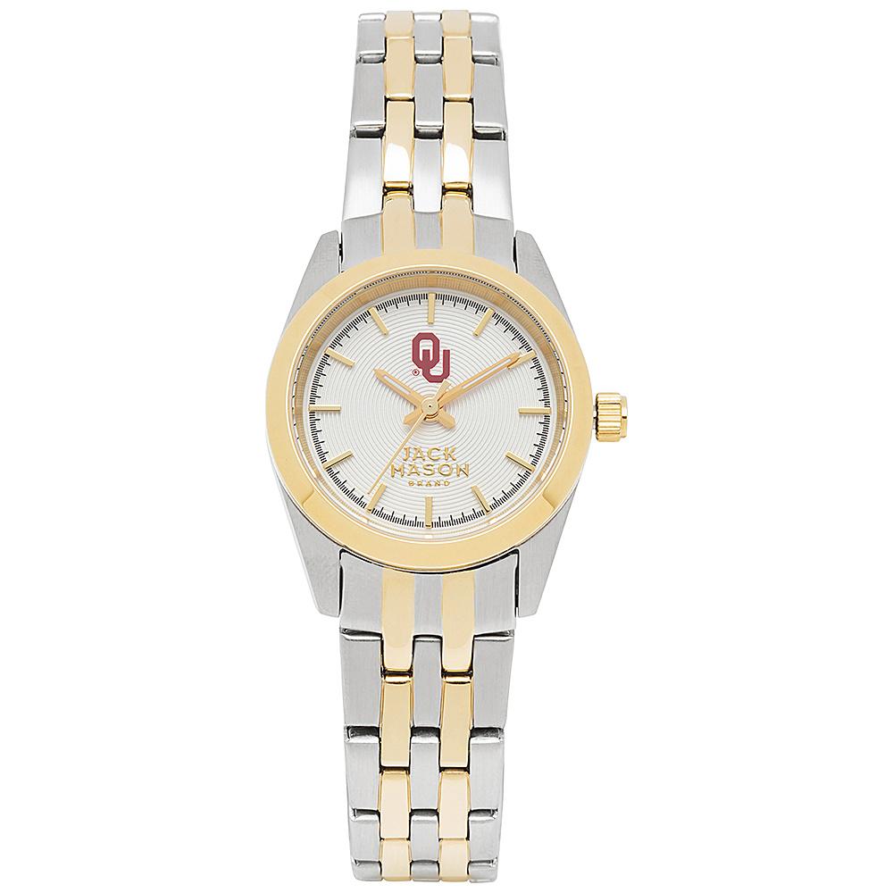 Jack Mason League NCAA Two-Tone Bracelet Watch Oklahoma Sooners - Jack Mason League Watches - Fashion Accessories, Watches
