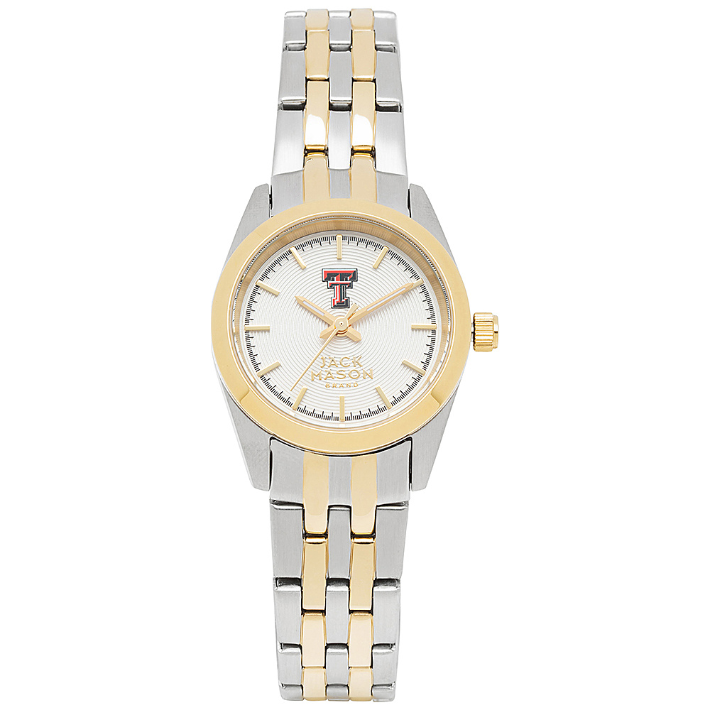Jack Mason League NCAA Two-Tone Bracelet Watch Texas Tech Red Raiders - Jack Mason League Watches - Fashion Accessories, Watches
