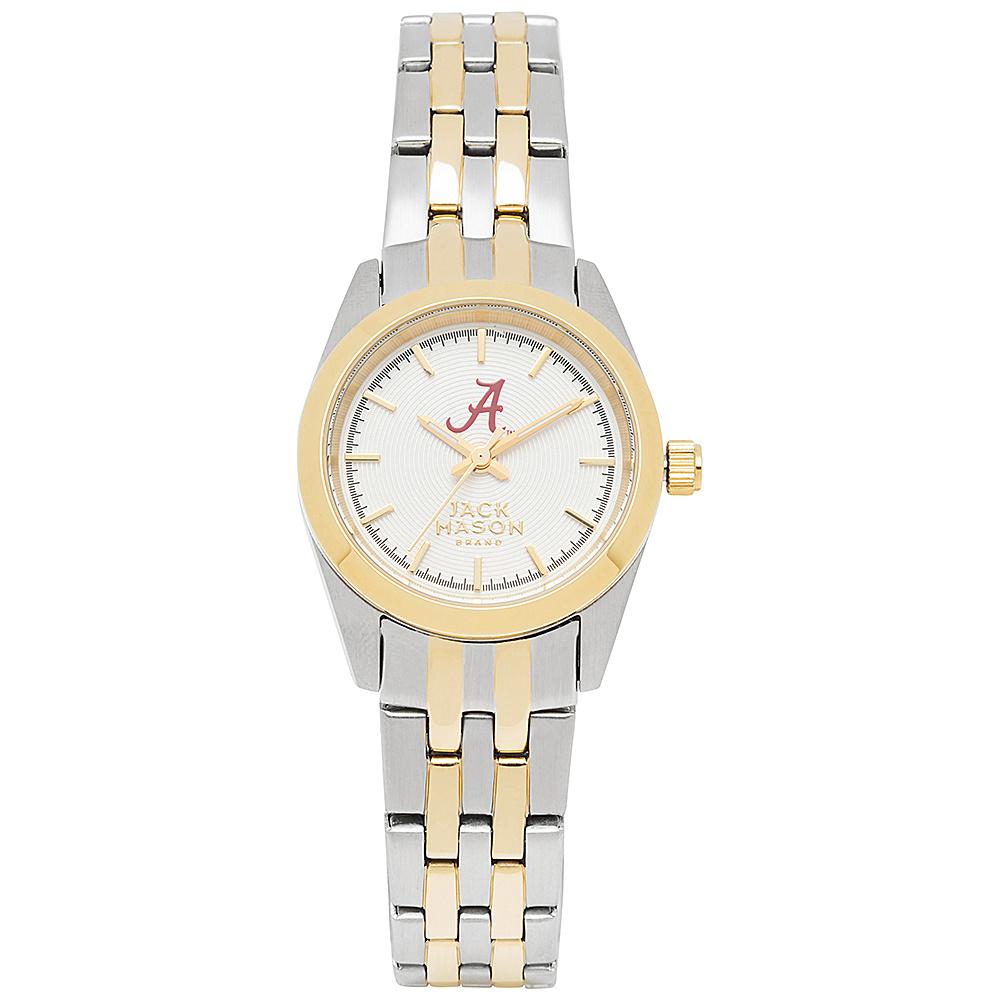 Jack Mason League NCAA Two-Tone Bracelet Watch Alabama Crimson Tide - Jack Mason League Watches - Fashion Accessories, Watches