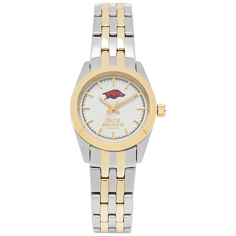 Jack Mason League NCAA Two-Tone Bracelet Watch Arkansas Razorbacks - Jack Mason League Watches - Fashion Accessories, Watches