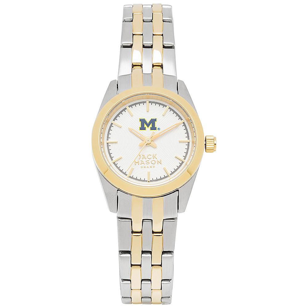 Jack Mason League NCAA Two-Tone Bracelet Watch Michigan Wolverines - Jack Mason League Watches - Fashion Accessories, Watches