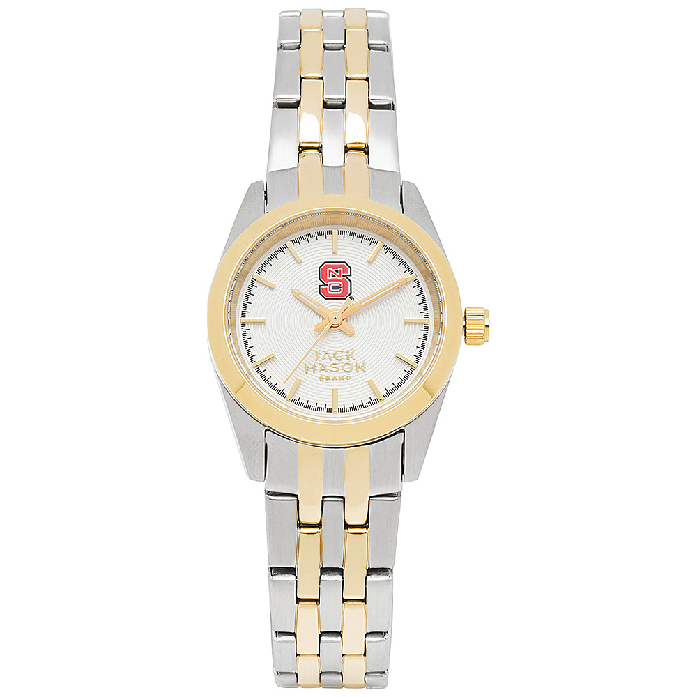 Jack Mason League NCAA Two-Tone Bracelet Watch NC State Wolfpack - Jack Mason League Watches - Fashion Accessories, Watches
