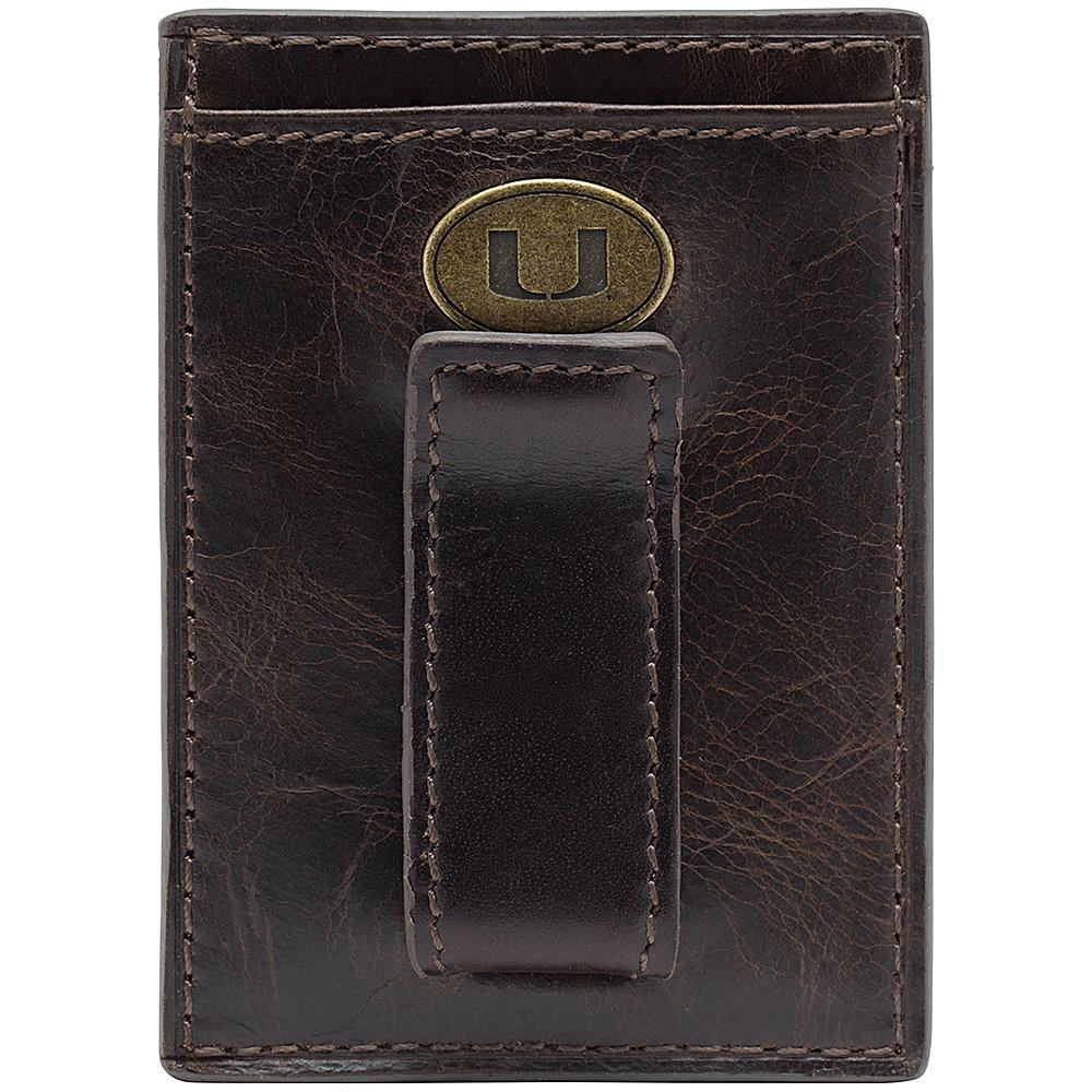 Jack Mason League NCAA Legacy Front Pocket Wallet Miami Hurricanes - Jack Mason League Mens Wallets - Work Bags & Briefcases, Men's Wallets