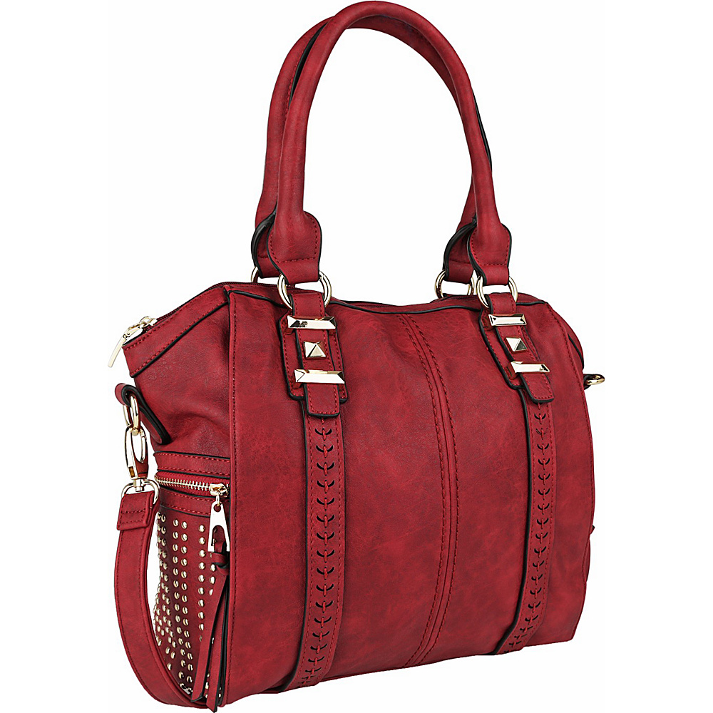 MKF Collection by Mia K. Farrow Lille Weekender Tote Burgundy - MKF Collection by Mia K. Farrow Manmade Handbags - Handbags, Manmade Handbags