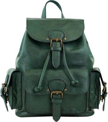 nu G Vintage Multi Compartment Backpack Emerald - nu G Manmade Handbags