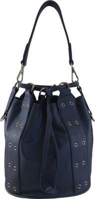 Joelle Hawkens by treesje Brianne Drawstring Bucket Crossbody Marlin Blue - Joelle Hawkens by treesje Leather Handbags