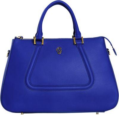 Gregory Sylvia Devereux Satchel Cobalt Blue - Gregory Sylvia Leather Handbags
