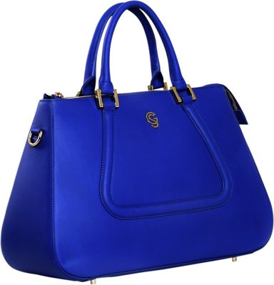Gregory Sylvia Devereux Satchel Cobalt Blue - Gregory Sylvia Leather Handbags