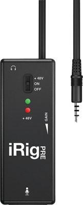 IK Multimedia iRig Mic Pre Amp Interface Black - IK Multimedia Electronic Accessories