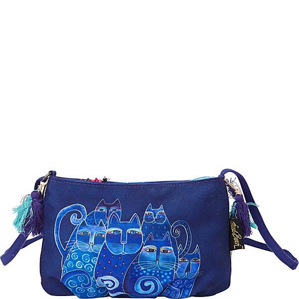 Laurel Burch Indigo Cats Feline Crossbody Bag Ebags Com