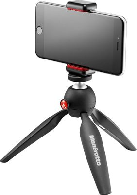 Manfrotto Bags Pixi Tripod Or Handheld W Phone Clamp Black - Manfrotto Bags Camera Accessories