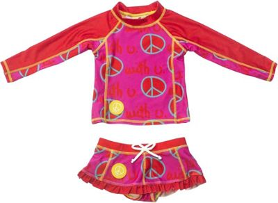 Biglove Kids Swim Shirt & Skirt 4T - Peace - Biglove Women's Apparel