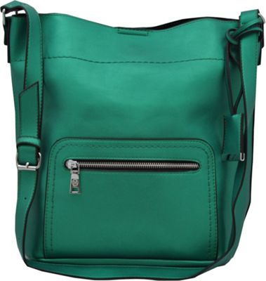 MoDa Buttersoft Shoulder Bucket Tote Green - MoDa Manmade Handbags