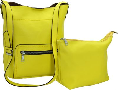 MoDa Buttersoft Shoulder Bucket Tote Lemon - MoDa Manmade Handbags