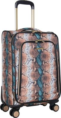 "Image of Aimee Kestenberg Bali 20"" Carry-On Spinner Blue Apricot Snake - Aimee Kestenberg Softside Carry-On"