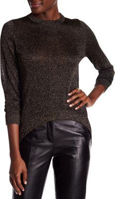 Rolo & Ale Serena Lurex Hi-Lo Sweater S - Black & Gold - Rolo & Ale Women's Apparel