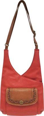 Bueno Braid Shoulder Bag Tomato Cognac - Bueno Manmade Handbags