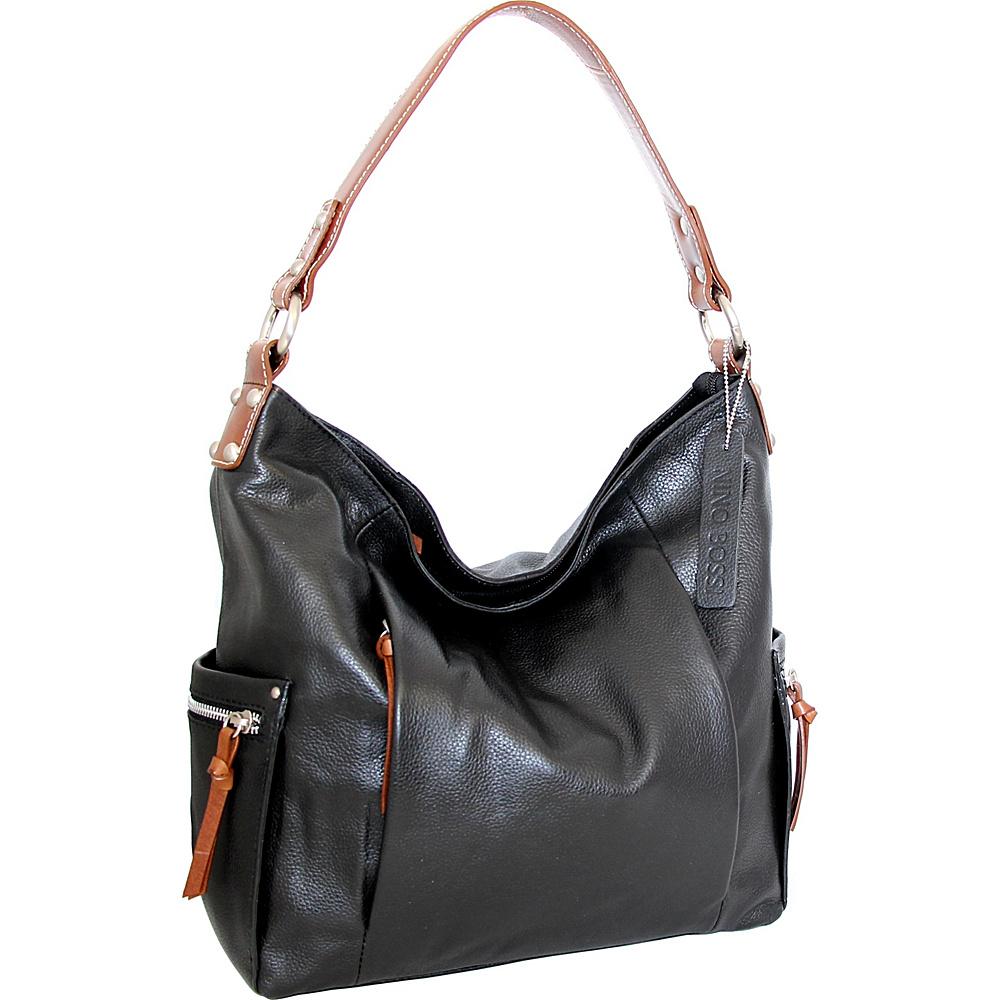 Nino Bossi Belinda Bucket Bag Black - Nino Bossi Leather Handbags - Handbags, Leather Handbags