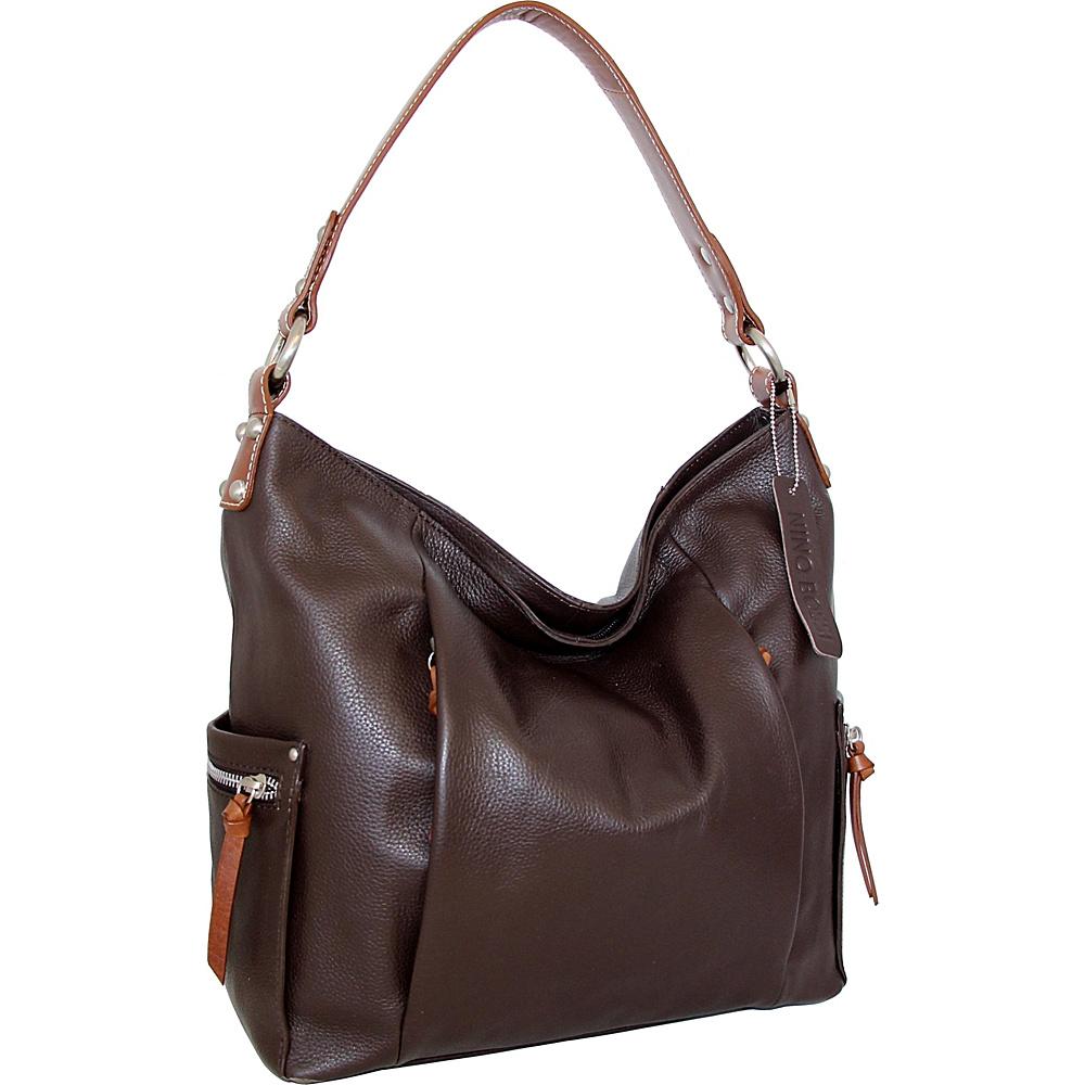 Nino Bossi Belinda Bucket Bag Chocolate - Nino Bossi Leather Handbags - Handbags, Leather Handbags