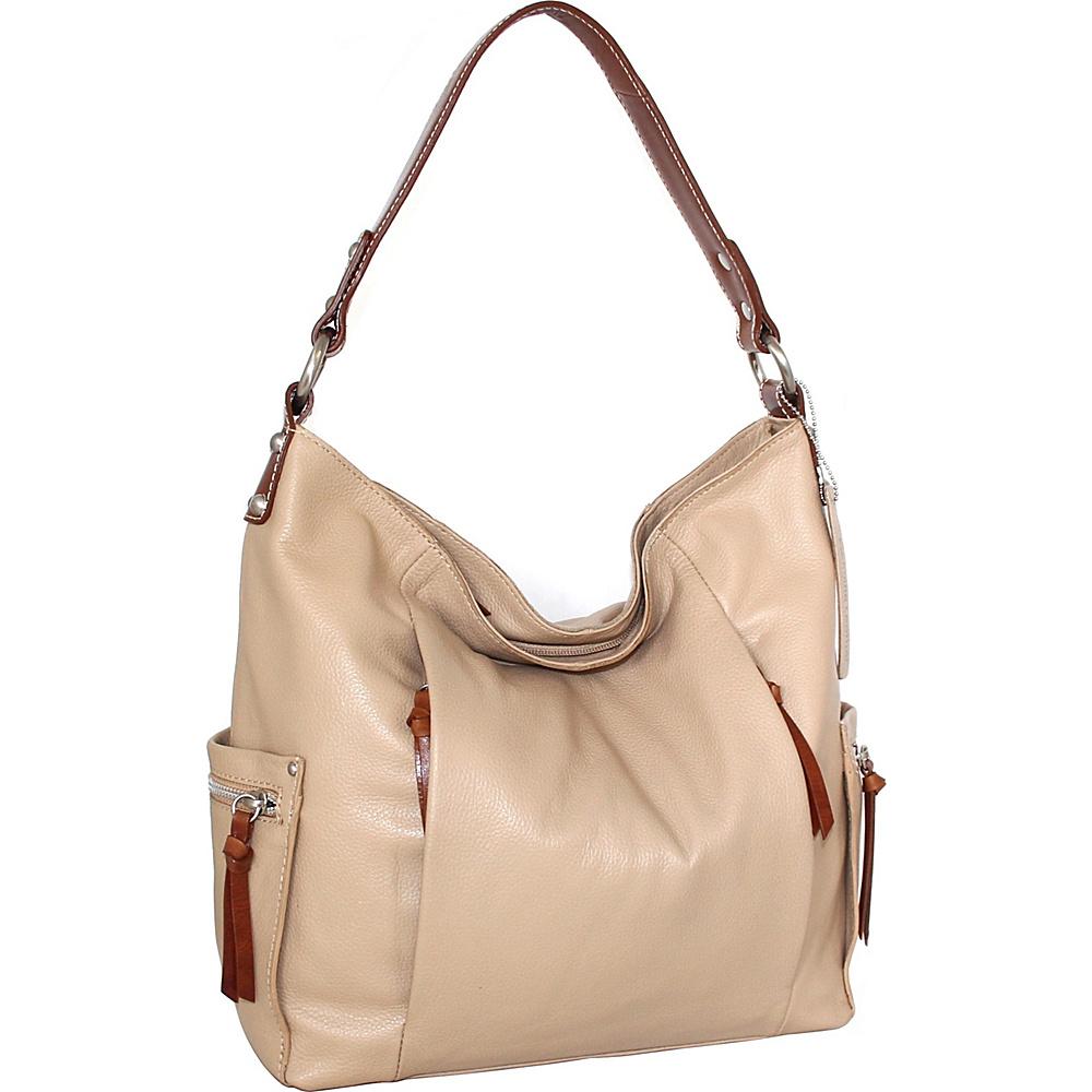 Nino Bossi Belinda Bucket Bag Sand - Nino Bossi Leather Handbags - Handbags, Leather Handbags