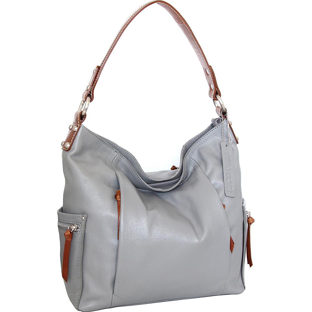 Nino Bossi Belinda Bucket Bag Stone - Nino Bossi Leather Handbags - Handbags, Leather Handbags