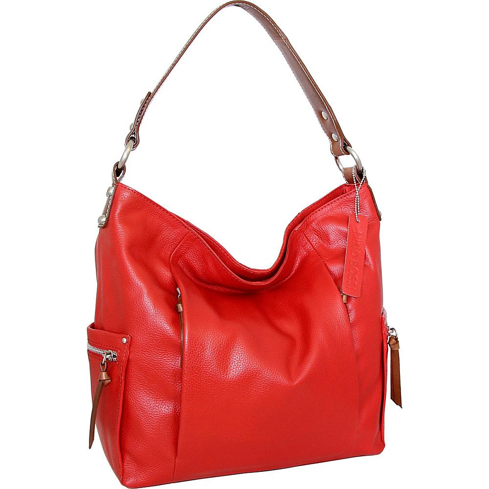 Nino Bossi Belinda Bucket Bag Tomato - Nino Bossi Leather Handbags - Handbags, Leather Handbags