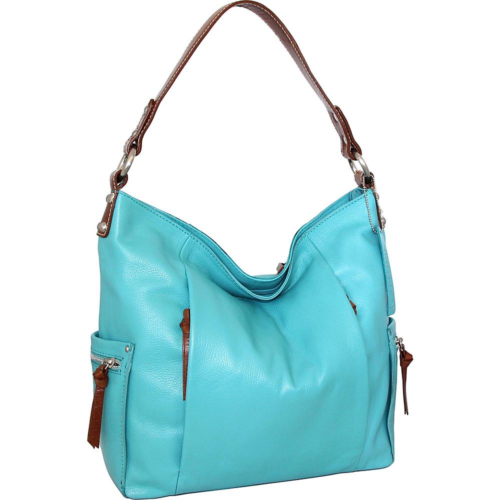 Nino Bossi Belinda Bucket Bag Turquoise - Nino Bossi Leather Handbags - Handbags, Leather Handbags