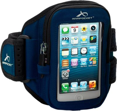 Armpocket AERO i-10 travel gear for iPhone SE, iPhone 5 or up to 5 inch. Small Strap Length. Navy - Armpocket Electronic Cases